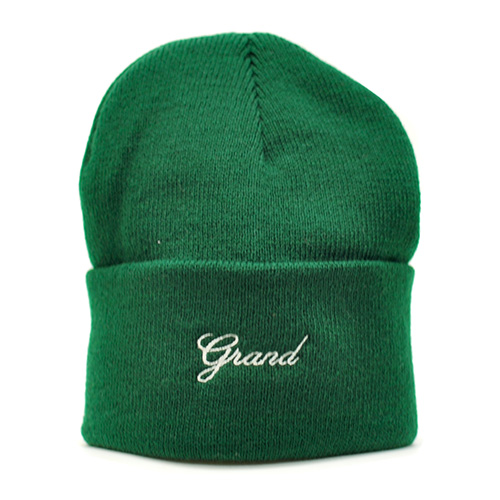"GRAND COLLECTION ニットキャップ ""GRAND SCRIPT BEANIE - FOREST""/GRAND COLLECTION"