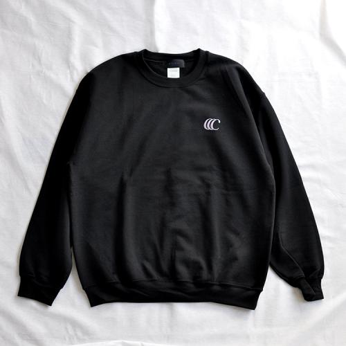 "clumsy. Pictures スエット ""CCC EMB CREW SWEAT - BLACK(PURPLE刺繍/プリント)""/clumsy. PICTURES"