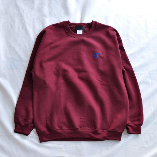 "clumsy. Pictures スエット ""CCC EMB CREW SWEAT - BURGUNDY (NAVY刺繍/プリント)""/clumsy. PICTURES"