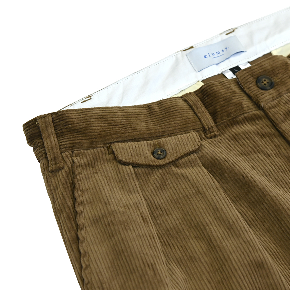 "clumsy. Pictures パンツ ""2 PLEATS TRAD CORD - LIGHT BROWN"""