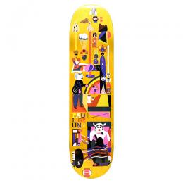 "POLAR SKATE CO デッキ PAUL GRUND ""FREQUENCY YELLOW - 8.0"""