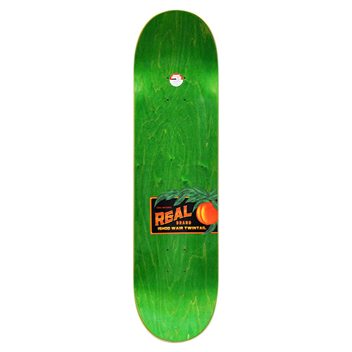 "REAL デッキ ISHOD WAIR ""JUST PEACHY TWIN TAIL BLACK - 8.25"""