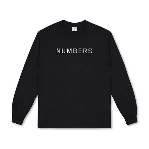 NUMBERS EDITION ロングスリーブ WORDMARK L/S TEE  - BLACK/NUMBERS EDITION