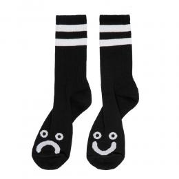 "POLAR SKATE CO ソックス ""HAPPY SAD SOCKS (20WIN) - BLACK"""