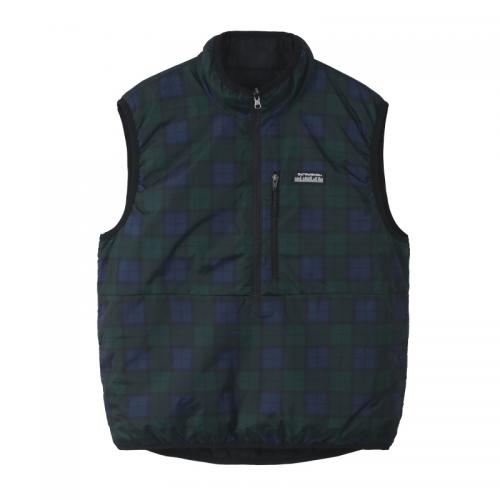 "HUF ベスト ""TAOS REVSIBLE VEST - BLACK"""