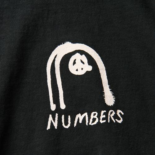 "NUMBERS EDITION ロングスリーブTシャツ ""COLLAGE L/S TEE - BLACK"""