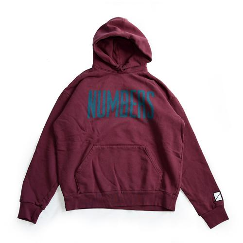 "NUMBERS EDITION パーカー ""UP LIGHT HOODY - BURGUNDY(PORT)""/NUMBERS EDITION"