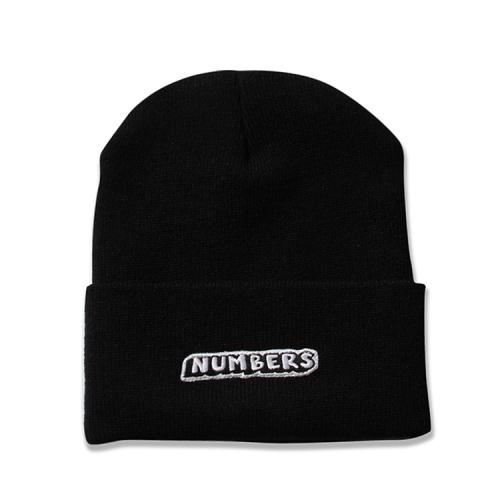 "NUMBERS EDITION ニットキャップ ""DROP BEANIE - BLACK""/NUMBERS EDITION"