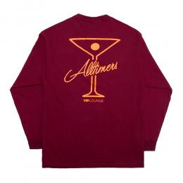 "ALLTIMERS ロングスリーブ ""LEAGUE PLAYER L/S (20HO) - BURGUNDY"""