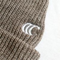 "clumsy. Pictures ニットキャップ ""CCC EMB SHORT BEANIE - LIGHT BROWN (WHITE刺繍)"""