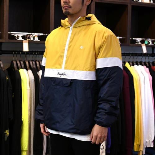 "MAGENTA ジャケット ""96 NYLON JACKET - YELLOW/NAVY""/MAGENTA"