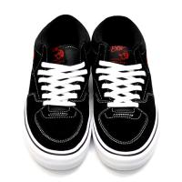 "VANS スケートボードシューズ ""HALFCAB PRO""  - BLACK/WHITE/RED"