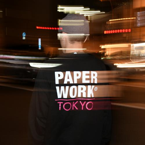 "【Prime LIMITED】 PAPER WORK NYC ロングスリーブ ""TOKYO L/S TEE - BLACK"""